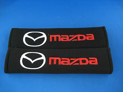 2 x CAR Seat Belt Cover Shoulder Pads Covers Cushion for MAZDA 3 MAZDA 6  MX5