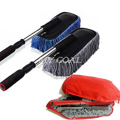Telescopic Car Wash Brush Soft Truck Wax Dusting Cleaning Tool Clean Duster Mop