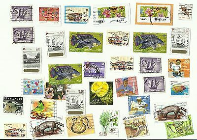 Singapore postage stamps x 35, used.