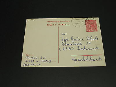 Luxembourg 1954 postal card to germany *11170