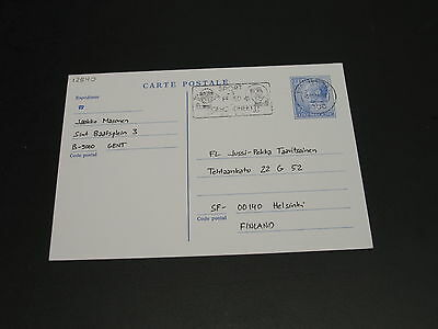 Luxembourg 1989? Postal card to finland *12540