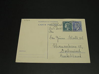 Luxembourg 1954 postal card to germany *11169