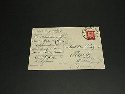 Italy 1939 Pinerolo postcard to germany *11263