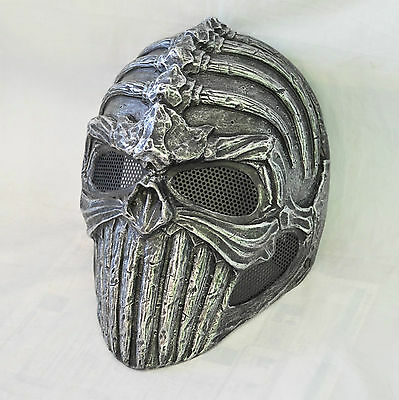 Full Face Wire Mesh Protection Spine Skull Mask For Paintball Airsoft War Games