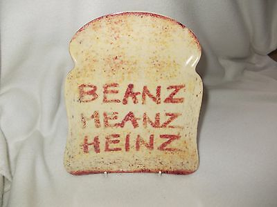 Slice Of Toast Shaped Heinz Beans Ceramic Plate