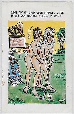 Comic Seaside Humour - Golf - A Hole In One . 1979