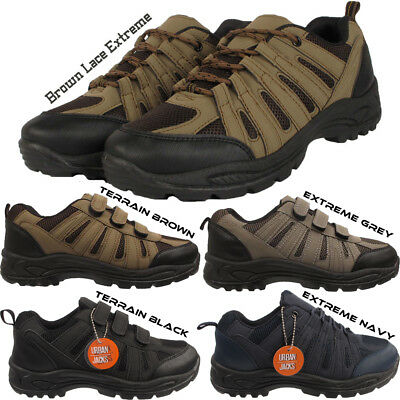 New Mens Velcro Camping Trekking Hiking Walking Boots Trainers Shoes Sizes 7-12
