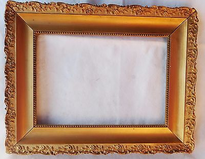 "Antique Gilt And Gesso Picture Frame 12.5"" By 9.5"""