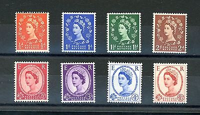 Great Britain 1958 Graphite (upright wmk)  Set of 8     unmounted MINT (F003)