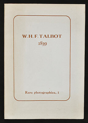 W.H.F.Talbot 1839 The Art Of Photogenic Drawing 1980 anastatic copy n.057 D909