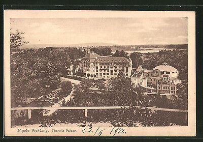 tolle AK Kúpele Piestany, Thermia Palace 1922