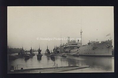 Photograph  H.m.s.lucia Submarine Depot Ship With Submarines
