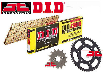 DID Heavy Duty Gold Chain & JT Sprocket Upgrade Kit Yamaha MT125 (ABS) 2015-2016