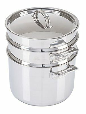 Viking Culinary 3-Ply Stainless Steel Pasta Pot with Steamer 8qt, New