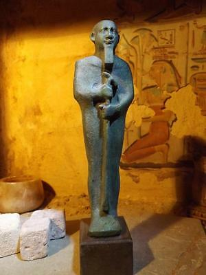 Egyptian statue replica of the creator God Ptah. Patron of arts and creativity.
