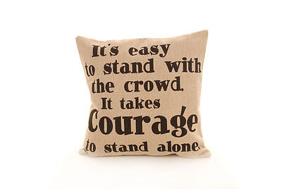 New 10 x Courage Hessian Linen Cushion Covers Wholesale Job Lot 18x18 (45x45cm)