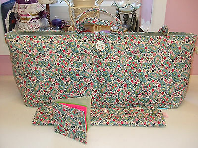 Knitting Sewing Bag Handmade In Cath Kidston Fabric New