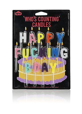 Who's Counting Candles ~ Happy F***ing Birthday ~ joke birthday cake gift W10084