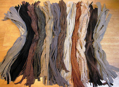 HOOKING  FURRY CREATURES  250 Hand & Mill Dyed #8 Rug Hooking Wool Strips