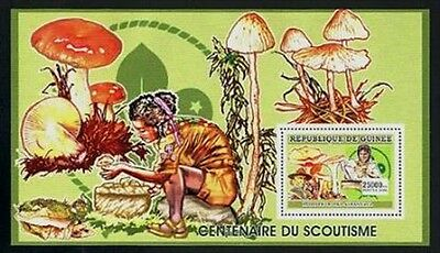 HERRICKSTAMP NEW ISSUES GUINEA 100th Anniv. Of Scouting Stamp S/S #2
