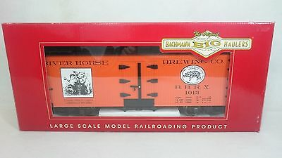 "Bachmann big haulers 98685 ""L"" Freight Cars Billboard Reefer River Horse Brewing"