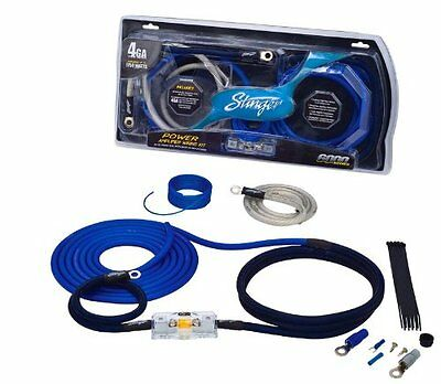 New Stinger Sk6241 4 Gauge 6000 Series Power Amplifier Installation Kit