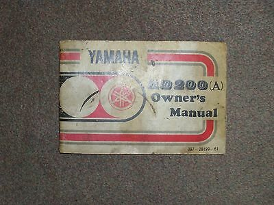 yamaha rd 200a owners manual