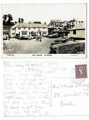 Cornish Post Card Real Photo The Square St. Mawes