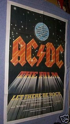 Original 1981 AC/DC LET THERE BE ROCK Italian 39X55