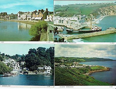 Cornish Post Cards Color Photos 8 Cards Views Around Cornwall