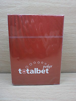 1 New Deck Fournier 100% Plastic Totalbet Poker  Playing Cards - New & Sealed