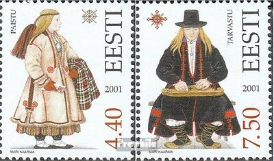 Estonia 421-422 (complete issue) unmounted mint / never hinged 2001 Costumes