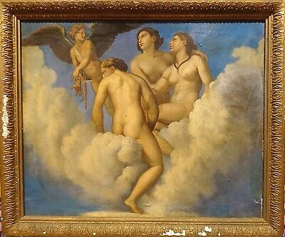 Large 19th Century French Neo Classical Greek Gods Oil Painting Eugene DELACROIX