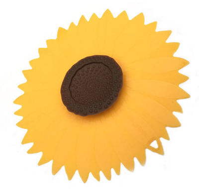 "Charles Viancin Sunflower Silicone Lid 9"" Food Storage Universal Medium Lid 1102"