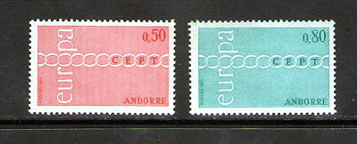 """French Andorra """"Europa"""" pair.    M.N.H.       £1.99p ask."""
