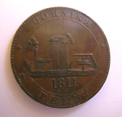 1811 Cornish Penny Accommodation of the County