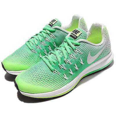 10f769df027a Nike Zoom Pegasus 33 GS Green Silver Kids Running Shoes Sneakers 834317-301