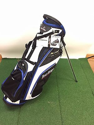New Tour Edge Hot Launch 2 Golf Stand Bag Blue/Black/White 6-Way Top