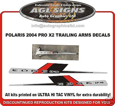 2004 POLARIS PRO X2 TRAILING ARM DECALS , graphics reproduction ifs
