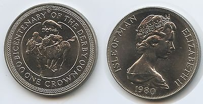 GS405 - Isle of Man One Crown 1980 KM#63 Bicentenary of the Derby
