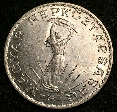 1971 Hungary 10 Forint Stobl Monument Coin - About Uncirculated Condition