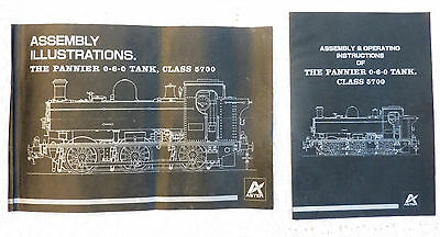 ASTER LIVE STEAM PANNIER TANK ASSEMBLY & OPERATING INSTRUCTION BOOKS x 2