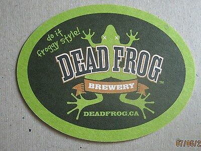 Beer Coaster - Dead Frog Brewery - Get Froggy With It) New