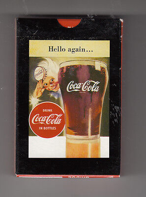 "Coca-Cola Collectible   Hello Again Playing  Cards ""unsealed"""