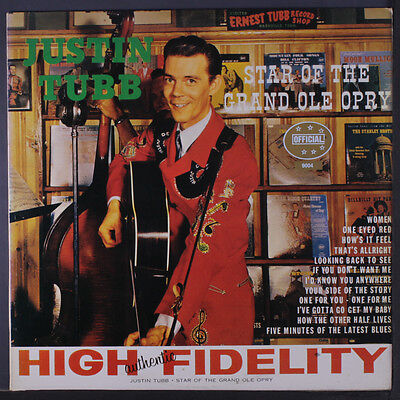JUSTIN TUBB: Star Of The Grand Ole Opry (starday 160) LP (Denmark, slight cover