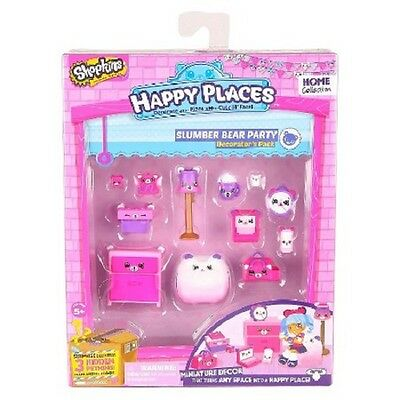 Shopkins Happy Places Series 2 -Decorator Pack Slumber Bear Party - Brand New
