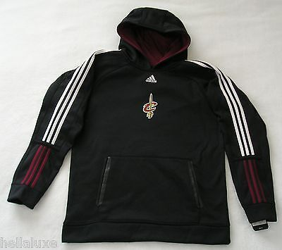 nwt~Adidas CLEVELAND CAVALIER PRE GAME HOODY sweat jersey Shirt Top~YOUTH sz Med