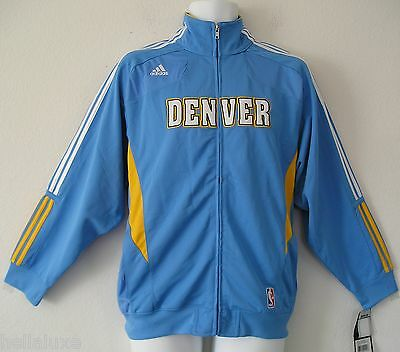 NWT~Adidas DENVER NUGGETS WARM-UP Jacket PERFORMANCE Track jersey Top~YOUTH sz L