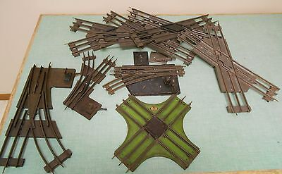 8 pieces of standard gauge cross overs & switches Lionel, Ives & misc