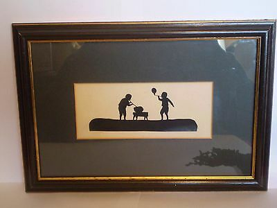 Vintage, Framed Silhouette Of Glass Blowers